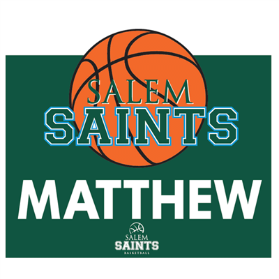 Basketball Green Spirit Sign