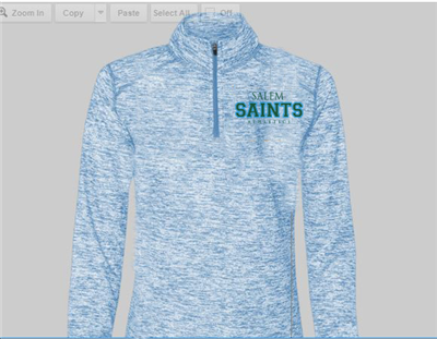 Quarter Zip Ladies Blue